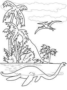 pictures dinosaur elasmosaurus coloring pages