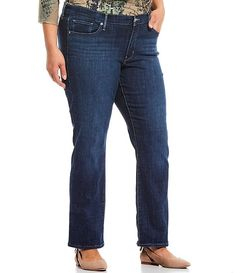 Levi's? Plus Size 414 Classic Straight Leg Jeans #Sponsored #Size, #advertisement, #Levi, #Classic Korean Fashion Casual, Cotton Viscose, Dark Horse, Legs Open, Stretch Denim, Dillards, Jeans, Hemline, Latest Trends