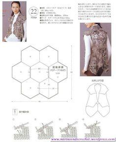Original chaleco con motivos hexagonales | Mi Rincon de Crochet