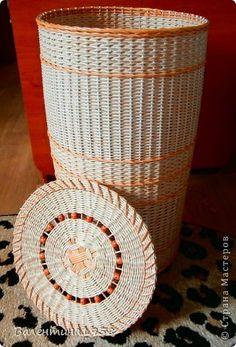 Поделка изделие Плетение Я сделала это Трубочки бумажные фото 6