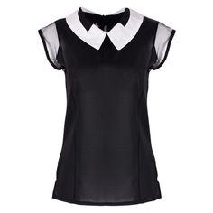 Women Summer Loose Chiffon blouses Sleeveless Vest White Black Tops Blouse camisa feminina