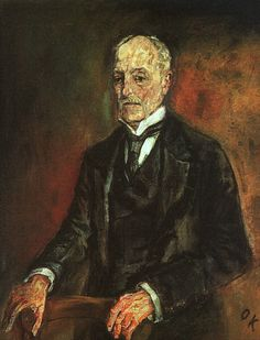 Portrait of Commerce Counselor Ebenstein, 1908-Oskar Kokoschka - by style - Expressionism