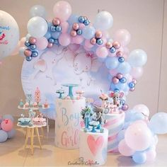 Gender Party, Baby Gender Reveal Party, Baby Reveal Party Ideas, Gender Reveal Party Decorations, Bachelorette Party Decorations, Baby Shower Balloon Decorations, Balloon Arch, Balloon Garland, Balloon Pump