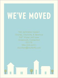 Our Town Moving Announcement