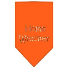 Home Wrecker Rhinestone Bandana Orange Large