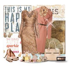 Salmon Sparkle by vonshelman on Polyvore featuring Marc Jacobs, Fendi, Modalu, Michael Kors, Kate Spade, philosophy, Yves Saint Laurent, Dolce&Gabbana and Tiffany & Co.