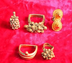 5 Antique copper bells cluster toe ring Indian ethnic bellydance foot decoration by Vintageethnicindian on Etsy