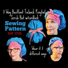 31 Best Scrub Hat Sewing Patterns images | Scrub hats ...