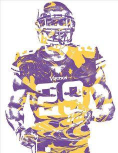 huge selection of 5ccf2 2ce0b Xavier Rhodes Minnesota Vikings Pixel Art 2 Art Print