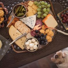 Holiday cheese plate on Calaisio serving tray.  #holidays #cheeseplate #calaisio #servingtray
