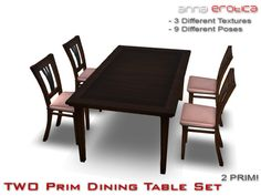Anna Erotica - TWO Prim Dining Table Set