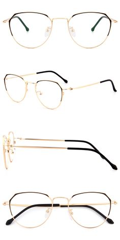 This round frame is made from high-quality metal material. This style is neat-o, but pattern design in the frame corners add slight detail.adjustable nose pads and plastic wrapped temples arms. Available in two colors: black frame and gold, rose gold. Glasses Case, Glasses Frames, Fake Glasses, Gold Rimmed Glasses, Best Eyeglass Frames, Rose Gold Rims, Cat Eye Colors, Pink And Gold, Purple