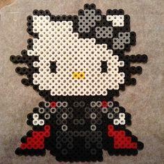 Thor Hello Kitty perler beads by Jennifer Harrison