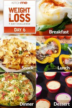 Diet Challenge Weight Watchers Day 6 Meal Plan – 7 Day Weight Loss Challenge Recipes - This meal plan is part of our easy one-week eating plan designed to kick-start weight loss and healthier habits. Weight Watcher Dinners, Weight Loss Snacks, Weight Loss Diet Plan, Weight Loss Smoothies, Easy Weight Loss, Loose Weight, Losing Weight, Atkins Recipes, Ww Recipes