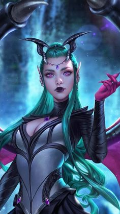 19 ideas book girl illustration fantasy for 2019 Elfen Fantasy, Fantasy Demon, Demon Art, Fantasy Warrior, Dark Fantasy Art, Fantasy Artwork, Fantasy Character Design, Character Inspiration, Character Art