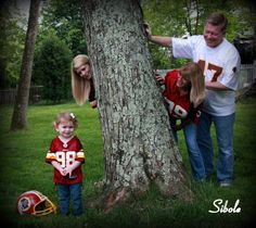 Redskins Family peekaboo <3