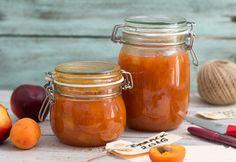 Sárgabarack-nektarin lekvár Preserving Food, Ketchup, Preserves, Pesto, Gem, Mason Jars, Healthy Living, Spices, Vegan