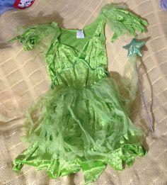 Tinker Bell Costume Green Dress Apron by NanasClosetofThings