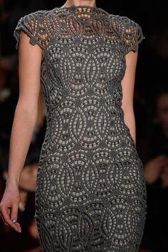 Women's Lace Dress Geometric Pattern