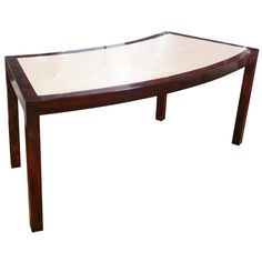 Mahogany Curved Desk With Marble Top | From a unique collection of antique and modern desks and writing tables at http://www.1stdibs.com/furniture/tables/desks-writing-tables/