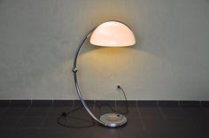 Elio Martinelli Serpente Stehleuchte Chrom floor lamp Martinelli Luce