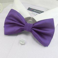 men's solid bowtie bows yellow tie knots neck ties necktie butterflies neckwear #15