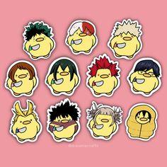 Stickers Kawaii, Meme Stickers, Printable Stickers, Boku No Hero Academia Funny, My Hero Academia Manga, Hero Academia Characters, Anime Merchandise, Funny Anime Pics, Journal Stickers