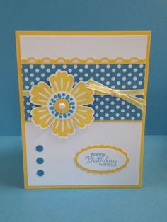 handmade card: Spring is in the Air - Mixed Bunch .... blue, yellow, white ... light and lovely ... Stampin' Up!