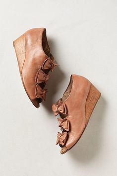 Tiered Bow Wedges | Anthropologie