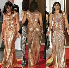 When you wear a dress like this, you must wear it with confidence.  This is confidence!(bh)