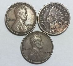 1909-VDB Lincoln, 1909 Lincoln and 1909 Indian Head cents. Beautiful coins!!!  | eBay
