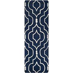 "Safavieh Chatham Collection CHT736C Handmade Dark Blue and Ivory Wool Area Runner, 2 feet 3 inches by 5 feet (2'3"" x 5') Safavieh http://www.amazon.com/dp/B00N5SRA4I/ref=cm_sw_r_pi_dp_ApY2vb0PRV9VF"