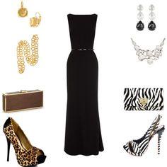 wear with a black formal dress
