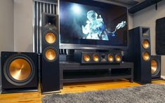 Home theaters mueble Dng loa Klipsch Reference Premiere dn m thanh cho phng nghe c ln ch c ti Audiohanoi Home Theater Room Design, Home Cinema Room, Home Theater Setup, Home Theater Rooms, Home Theater Seating, Best Home Theater System, Klipsch Home Theater, Salas Home Theater, Home Theater Projectors