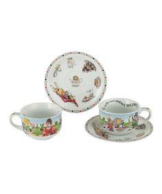 Look at this #zulilyfind! Alice in Wonderland 8-Oz. Teacup & Saucer - Set of Two #zulilyfinds