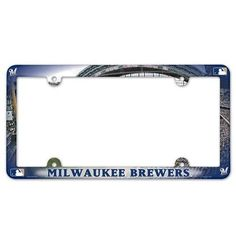 Milwaukee Brewers License Plate Frame - Full Color