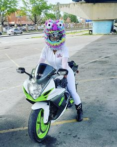 Moto Loot Helmet Cover for Motorcycle Helmet, Fun Rides and Gifts (Cover Only. Helmet Not Included) - Rainbow Long Fur Motorcycle Helmet Accessories, Motorcycle Helmets, Motorcycle Garage, West Coast Choppers, Helmet Covers, Lady Biker, Touring, Vehicles, Husband