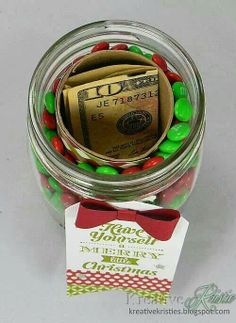 Cute money gift idea.