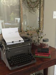 Love my old typewriter :)