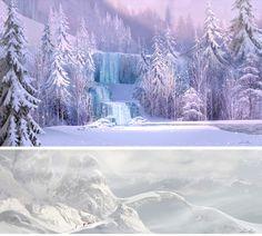 Concept Arts de Lisa Keene para o filme Frozen   THECAB - The Concept Art Blog
