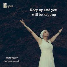 Needs no words. Just keep up one day at a time  #byogareykjavik #kundaliniyoga #yogibhajan #yogabhajanquote #keepup