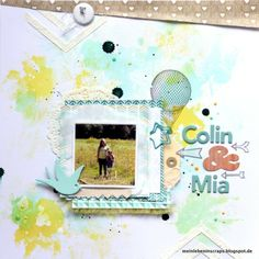 Colin & Mia - Two Peas in a Bucket Studio Calico, My Scrapbook, Inspire Others, Scrapbooking Layouts, Mixed Media, Challenges, Paper Crafts, My Favorite Things, Frame