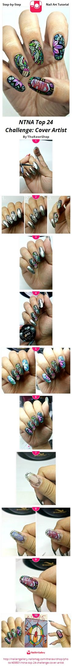 NTNA Top 24 Challenge: Cover Artist - Nail Art Gallery Step-by-Step Tutorial Photos