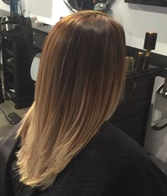 Vanilla sombre hair