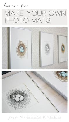 diy craft ideas : How to make your own photo mats. It's easier than you think!