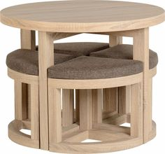 round dining table with 4 chairs, Sonoma Oak effect