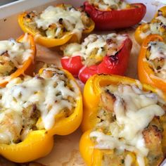 southwest shrimp stuffed peppers