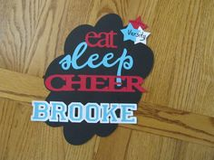 Cheer Locker Decoration but I can turn it into a Volleyball