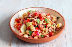 Ricotta, Poke Bowl, Buddha Bowl, Bruschetta, Fett, Pasta Salad, Buffet, Salad Recipes, Potato Salad