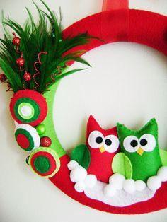 Owl Wreath @Heather Creswell Michelle Chambers